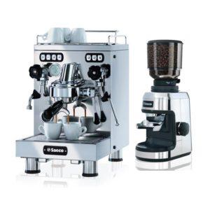 Tek Kaşıklı Espresso Makinası ve değirmen